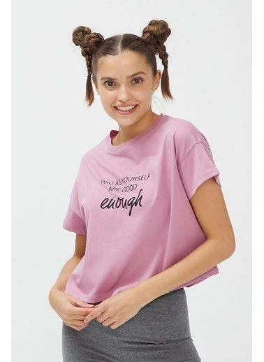 Penti Lila Bu4U Crop Tişört Renkli